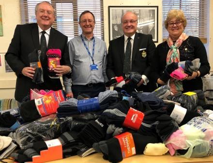 Sock donations