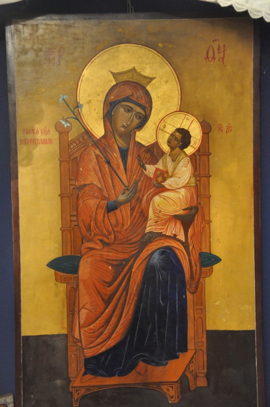 The proto-archetype of the Icon of Our Lady of Walsingham in St Seraphim's Orthodox Chapel in Walsingham