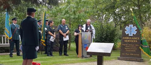 Ambulance memorial service