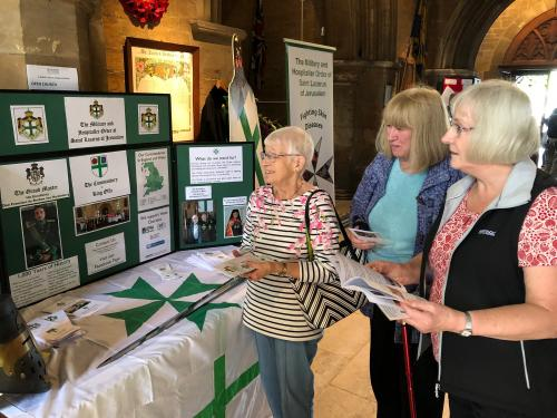 Visitors to the King Offa stand