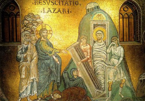 Lazarus mosaic Monreale