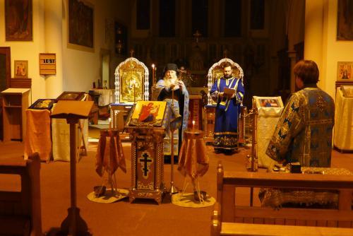 Fr. Mark & Deacon Mark chant the blessing