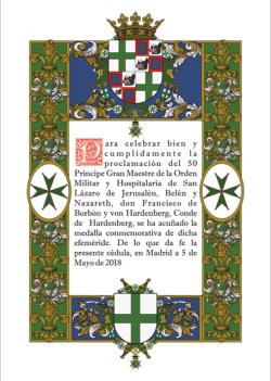 Medal certificate